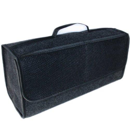 HCL Handycop® Borsa da bagagliaio grande feltro nero con velcro 25, 5x 48x 15, 5cm aderisce al bagagliaio travestimento & pavimento 5x 48x 15 5cm aderisce al bagagliaio travestimento & pavimento TK-eshop