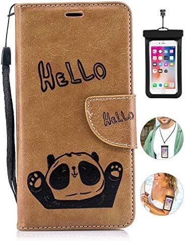 耐汚れ iPhone 8 ケース 手帳型 本革 レザー カバー 財布型 スタンド機能 カードポケット 耐摩擦 全面保護 人気 アイフォン iPhone 8 [無料付防水ポーチケース]