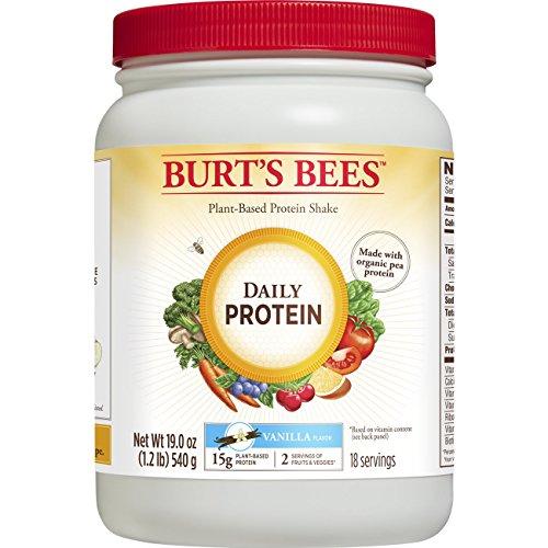 Burt's Bees Plant-Based Protein Powder - Vegetarian Pea Protein, Daily Protein, 19oz, Vanilla
