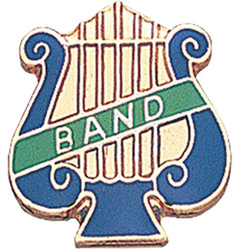 Music Lyre Band Lapel Pin