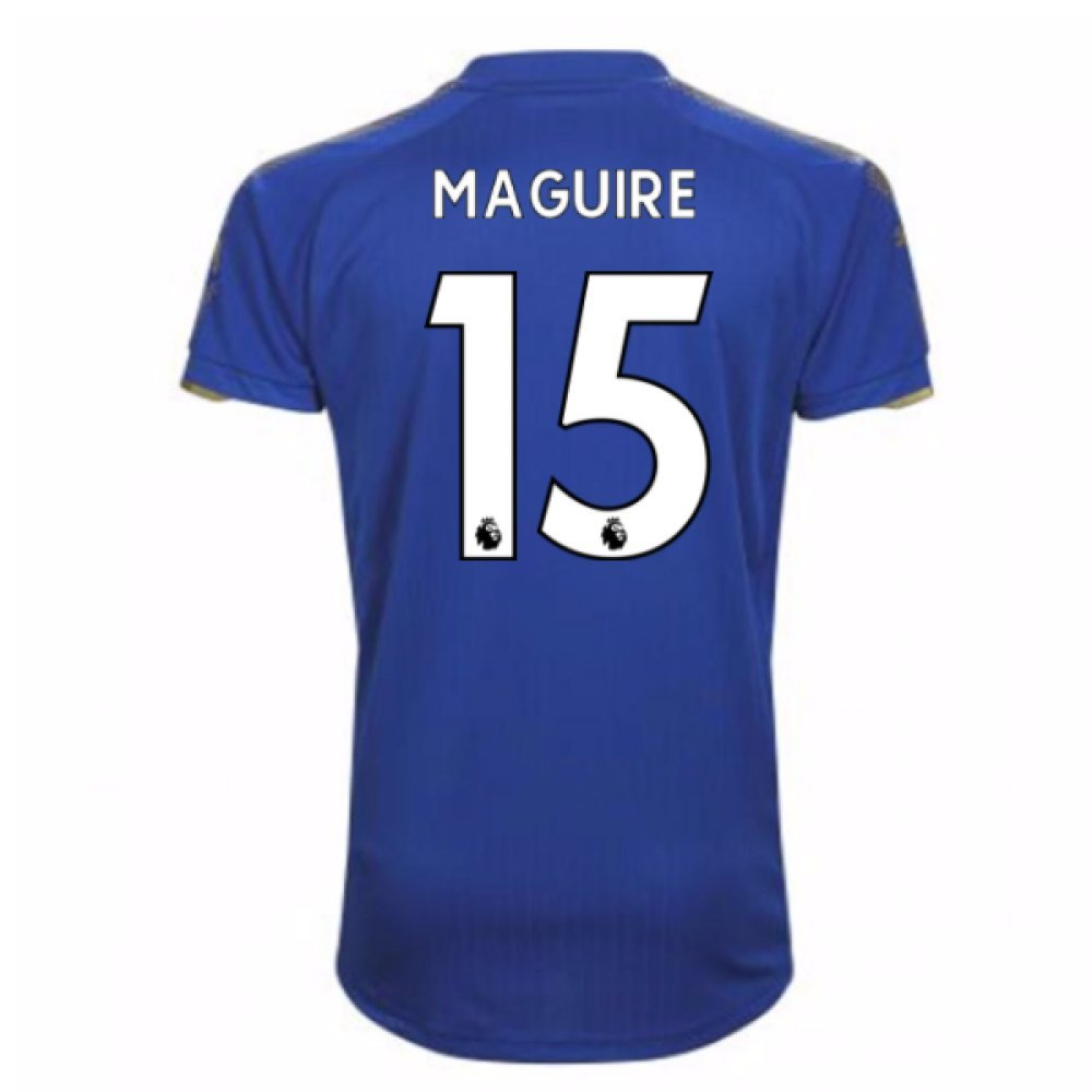 2017-18 Leicester City Home Football Soccer T-Shirt Trikot (Harry Maguire 15)