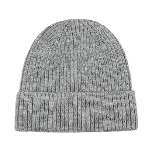 (Bee Late Unisex Autumn and Winter Outdoor Beanie Hat Thick Warm Knit Hat, Light)