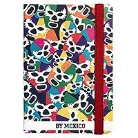 By Mexico Libreta Rayada Collage Máscaras de Luchador Colores 80 hojas