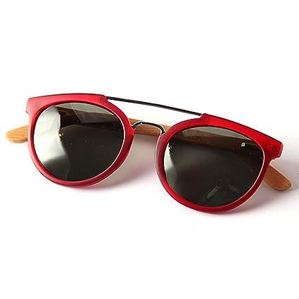 Ultra Ligero de Las Mujeres Gafas de Sol Polarizadas Unisex Bamboo Leg TAC Lens Protección UV