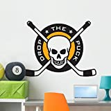 Hockey Emblem with Skull Wall
