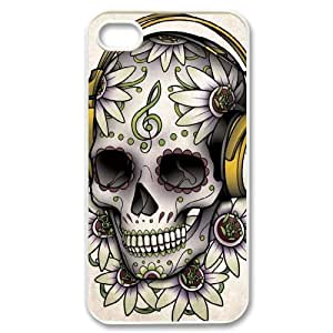 Hard Shell Case Of Skull Customized Bumper Plastic case For Iphone 4/4s