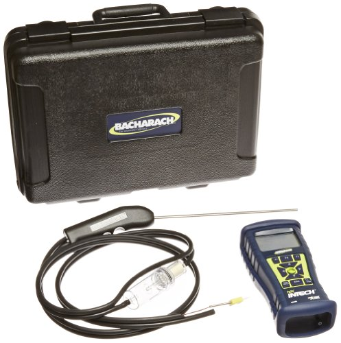 - Bacharach Fyrite InTech 0024-8523 Residential Combustion Analyzer Kit with O2 Sensor, CO Sensor, Probe, 4 AA Batteries, Rubber Boot and Hard-Carry Case