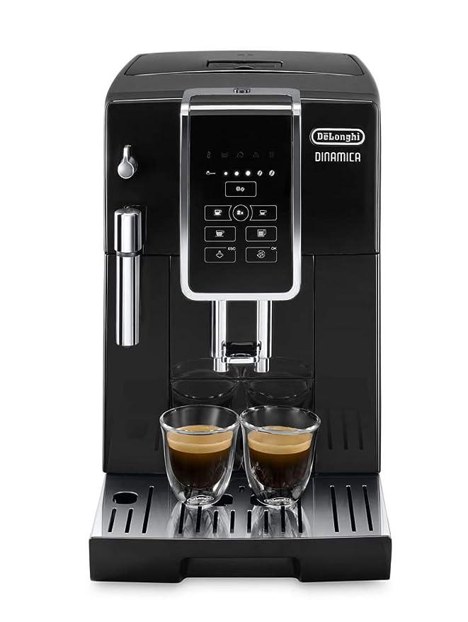 Delonghi Dinamica Ecam350.15.B - Cafetera superautomática, 1450w, panel control intuitivo táctil lcd, dispositivo de cappuccino, negro: Amazon.es: Hogar