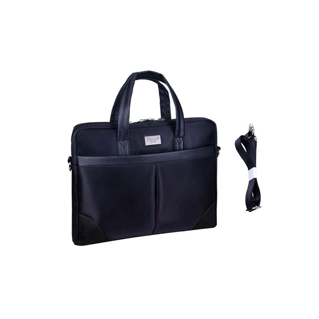 Men's File Bag Computer Bag Thick Oxford Cloth Waterproof Business Zipper Bag 38x32x8CM (Size : 38x32x8CM) by QSJY File Cabinets