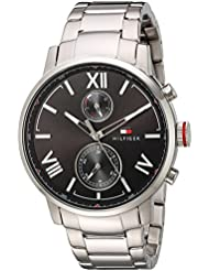 Tommy Hilfiger Men's 'ALDEN' Quartz Stainless Steel Casual Watch, Color:Silver-Toned (Model: 1791307)
