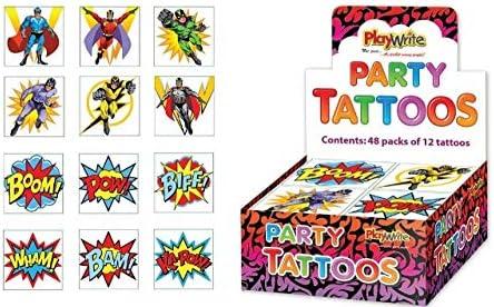Superheld Tattoos Mitgebseltüte Füller, 36 geliefert