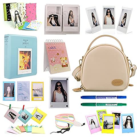 CAIUL 12 in 1 Instax Mini Universal Accessories Bundles Set for Fujifilm Instax Mini 8 8+ 9 70 7s 25 26 50s 90 Camera - Hp Belt Case