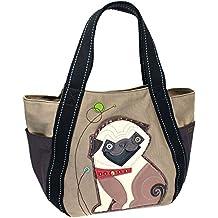 Chala Carryall Zip Tote, Canvas Handbag, Top Zipper, Animal Prints