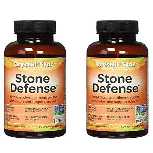 Crystal Star Stone Defense, 60 Vegetarian Capsules (2) For Sale