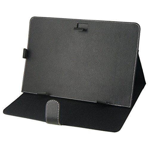 "Black Faux Leather Cover Pouch Case Holder for 10"" 10.1"" Tablet PC Android MID -  Gino, s14060400am0455"