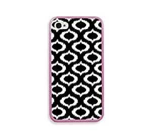 Ikat Black Pink Silicon Bumper iPhone 4 Case Fits iPhone 4 & iPhone 4S