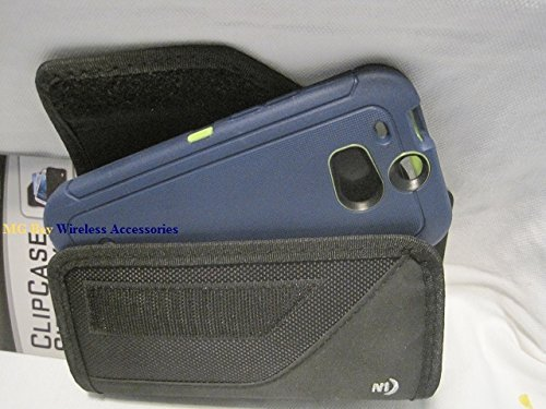 Nite Ize Black Extended Sideways Ballistic Horizontal Rugged Heavy Duty X-large Cover Case W/Durable Fixed Belt Clip Fits T-mobile / Metro Pcs Kyocera Hydro Wave