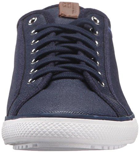 Ben Sherman Heren Chandler Lo Gecoat Canvas Fashion Sneaker Marine