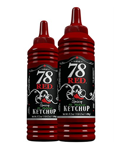78 Red Spicy Ketchup 17.2 oz, 2 Pack