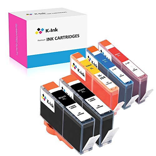 K-Ink Compatible Ink Replacement Cartridges for HP 564XL 564 XL (5 Pack) High Yield Compatible with Photosmart 5520 6510 6520 7510 7520 7515 C6380 C310