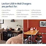 Leviton T5635-W USB Dual Type-C with Power Delivery (PD) In-Wall Charger with 15 Amp, 125 Volt Tamper-Resistant Outlet, White