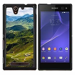 For Sony Xperia C3 Case , Sunset Beautiful Nature 78- Diseño Patrón Teléfono Caso Cubierta Case Bumper Duro Protección Case Cover Funda