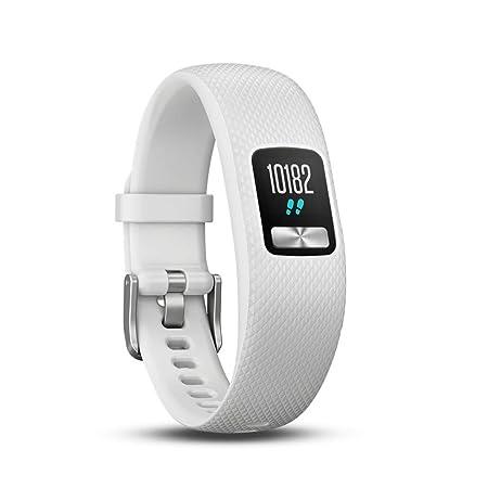 Garmin Vivofit 4 - Reloj Fitness Rastreador, Unisex, Blanco, S/M ...