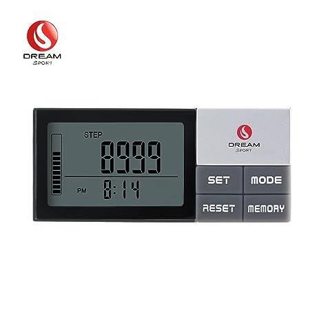 dreamsport Pista pasos Fitness Tracker podómetro reloj contador de paso 3d Digital podómetro para caminar dp773