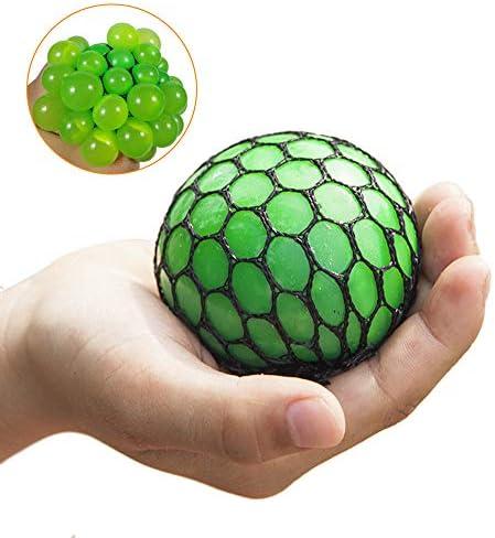 MMOOVV Anti Stress Ball, schwammiger Regenbogen Ball, bunter