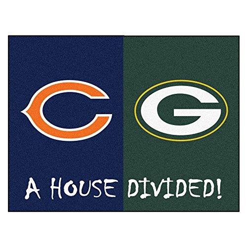 FANMATS NFL House Divided Nylon Face House Divided Rug Nfl Area House Rugs