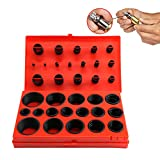 419 PCS O-Ring Assortment with Storage Box for Plumbing, Garage and Mechanics Repairing, Make by Oil, UV and Heat Resistant Rubber, 32 Standard Metric Size Seal Ring Design