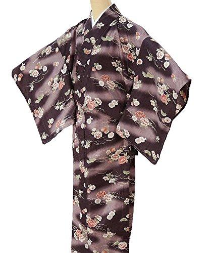 暖かく冒険者拒絶きもの翔鶴 小紋 単衣洗える着物 ポリエステル