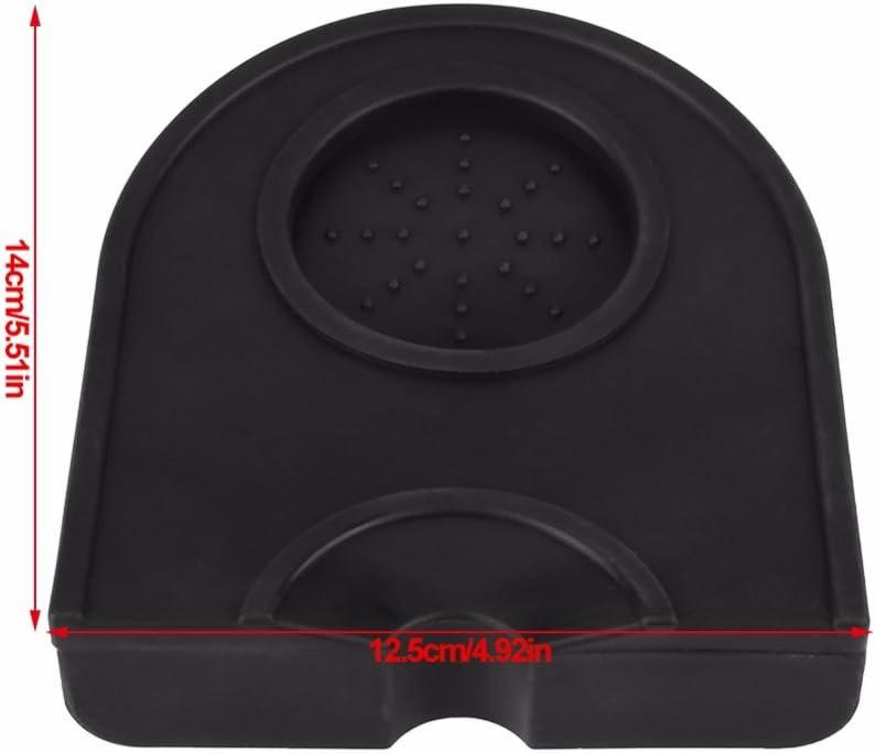 Vaorwne Manual Barista Coffee Espresso Latte Art Pen Tamper Holder Silicone Pad Mat Kitchen Accessories Black