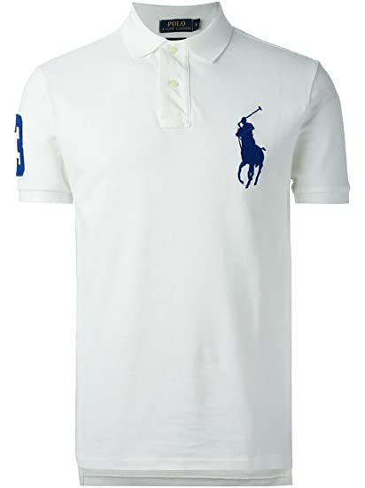 13829aa720204 Ralph Lauren Men s Polo Shirt Big Pony Custom Fit  Amazon.co.uk  Clothing