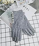 Wall of Dragon Brand Glovs Winter Women Gloves Cashmere Mittens Female Pearl Warm Wool Gloves Women Driving Gloves