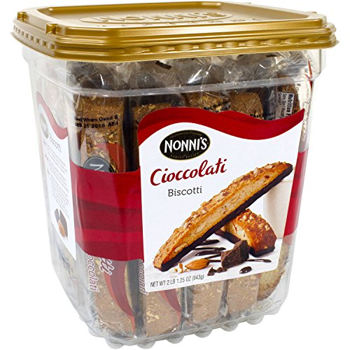 Nonni's Cioccolati Biscotti, Individually Wrapped 1.25oz (Pack of 25)