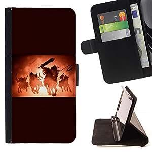 Momo Phone Case / Flip Funda de Cuero Case Cover - 4 Four Horsemen - Samsung Galaxy A3