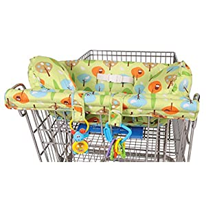Leachco Prop 'R Shopper Body Fit Shopping Cart Cover, Green Forest Frolics