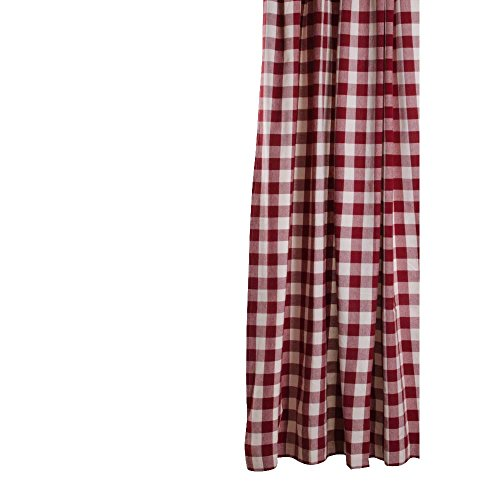 Home Collections by Raghu 72x72 Buffalo Check Barn Red-Buttermilk Shower Curtain