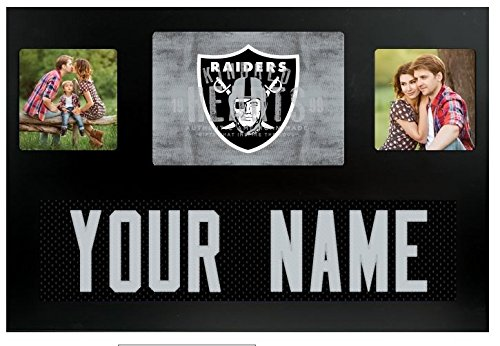 (Oakland Raiders NFL Custom Jersey Nameplate and Logo Picture Frame)