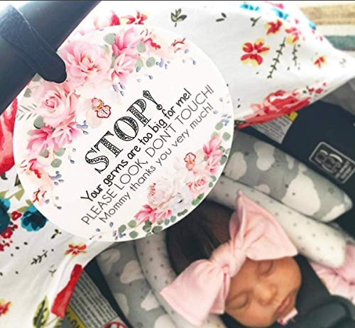 c1f61ddfe4d12 Flower Tag - Stop, Your Germs Are Too Big For Me, Please Look Don't ...