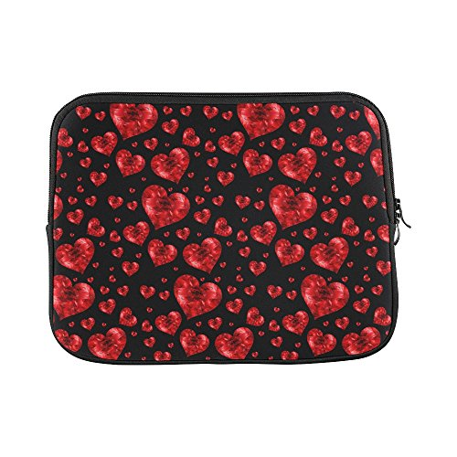 Texture Banner Hearts Red Plate Template Unique Custom Sleeve Soft Case Bag Pouch Skin For Macbook Air 11