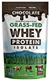 Chocolate Protein Powder Made From Grass Fed Whey Isolate - Light & Delicious Taste - Premium Real Food Ingredients With No Artificial Chemicals or Flavorings - Gluten Free & Non GMO - 1 lb
