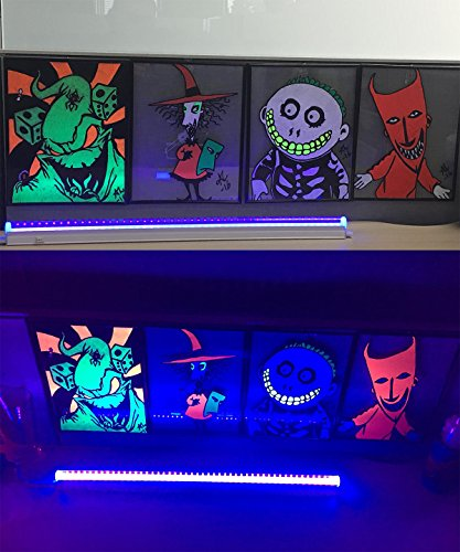 LED UV Black Light Fixtures, Amlight T5 Integrated Tube Pro Blacklight Dorm Party Hotel Club or DJ Stage with Fun Atmosphere by AMLIGHT (Image #3)