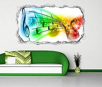 3d Wandtattoo Musiknoten Noten Musik Schlussel Wand Aufkleber