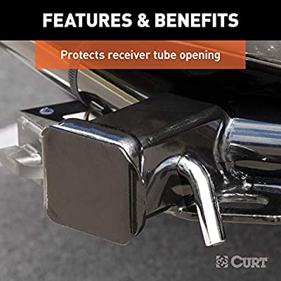 CURT 22750 Black Steel Trailer Hitch Cover Fits 2-Inch Receiver: Automotive