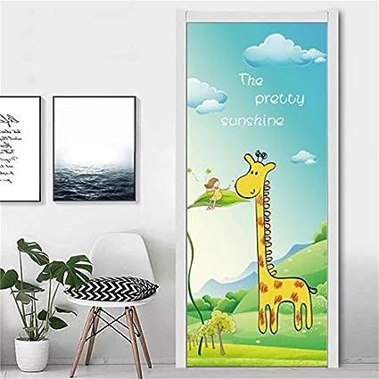 Girafes 3d-Look papier mural autocollant-sticker