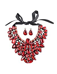 Holylove 8 Colors Costume Statement Necklace for Women Jewelry Fashion Necklace 1 Set with Gift Box