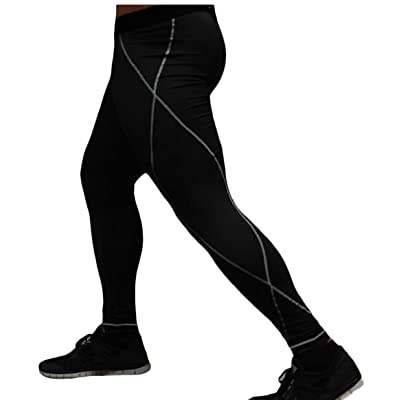 Comfy-Men Bodysuit Quick Drying Breathable Gym Training Activewear Pants