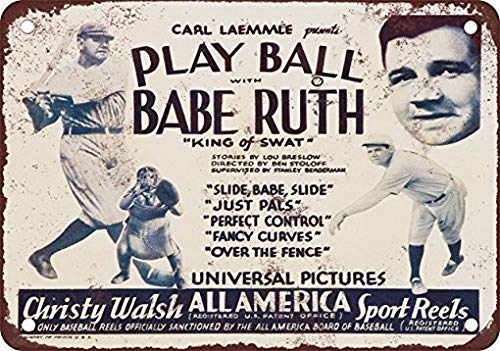 Houseuse 1932 Play Ball with Babe Ruth Retro Metal for sale  Delivered anywhere in Canada